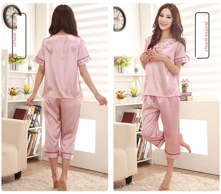women silk pajama sets