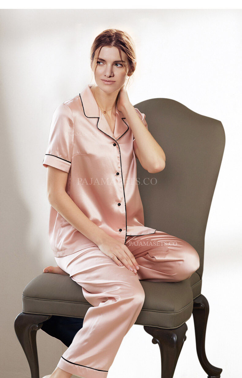 women silk pajama sets