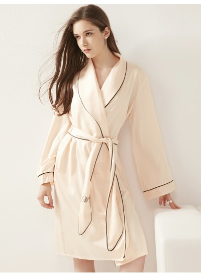 Women's summer dressing gown silky Night long Robe