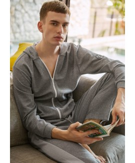 Fashion Long sleeved Men's pajama sets cheap sets of pajamas for male