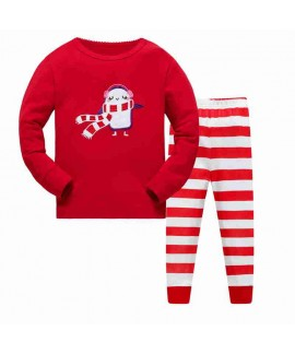 100% Cotton Home Service Bottoming Suit Children's Christmas Pajamas 3-8T