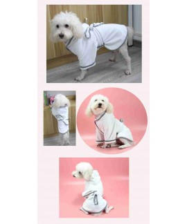 Home pet pajamas soft warm absorbent quick-drying bath dog bathrobe