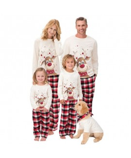 New Christmas Elk Print Parent-child Long-sleeved ...