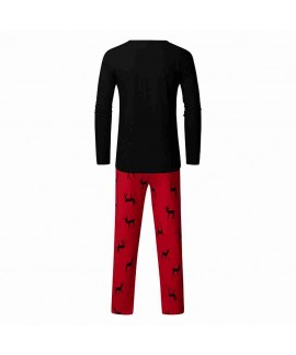 New European and American Christmas coating parent-child home service pajamas set