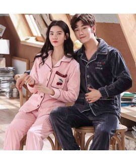Wearable thick cardigan men and women long-sleeved...