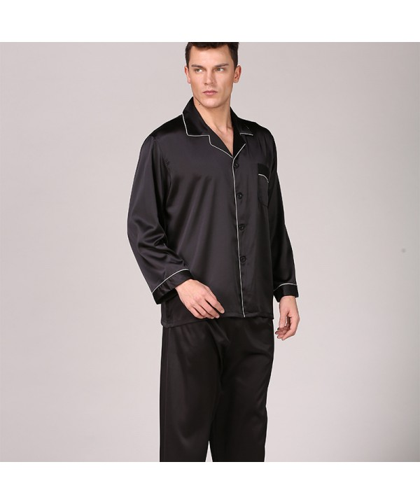 Large Size Men's Ice Silk Nightwear For Summer Lon...