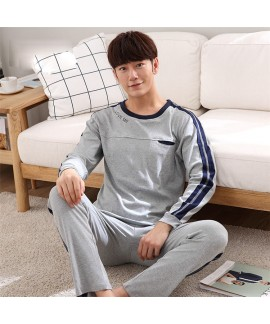 cheap man pyjamas suit 100 cotton long sleeve paja...