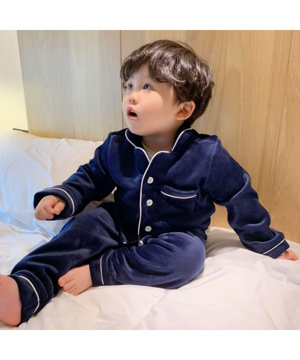 Winter Children's Clothes Thickened Golden Mink Down Leisure Comfortable pyjamas