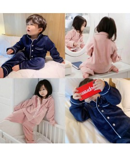 Winter Children's Clothes Thickened Golden Mink Do...