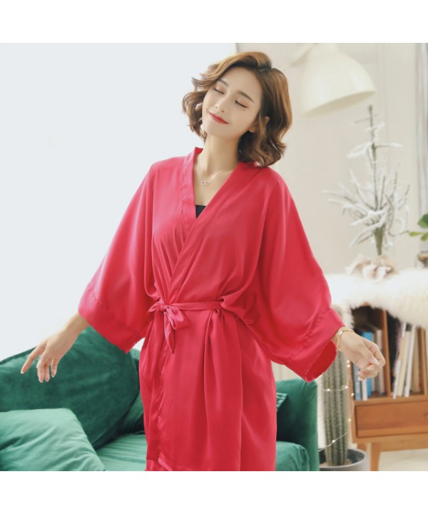 Soft new satin silk Bride Nightgown for summer comfortable breathable Bridesmaid pj sets