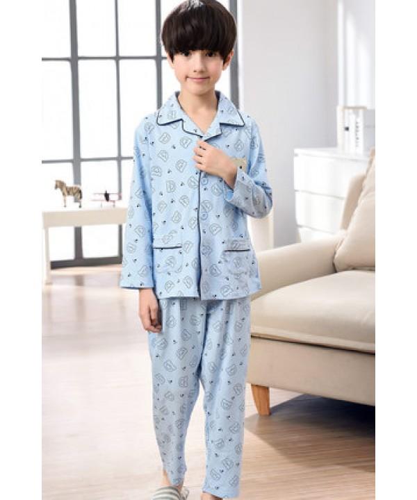 long sleeved cartoon boys pajama sets for spring 100 cotton soft pj set for children