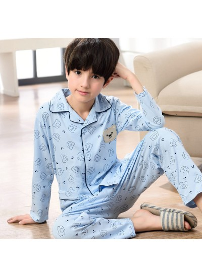 long sleeved cartoon boys pajama sets for spring 100 cotton soft pj set for children