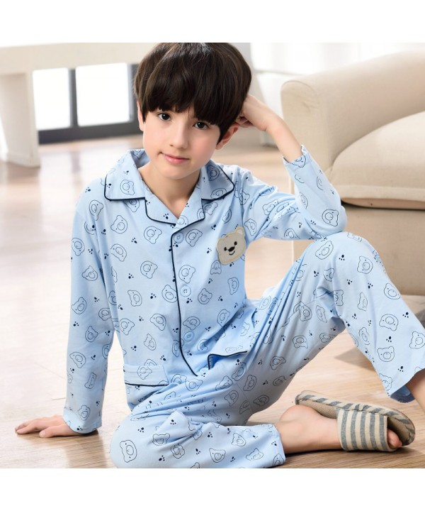 long sleeved cartoon boys pajama sets for spring 1...