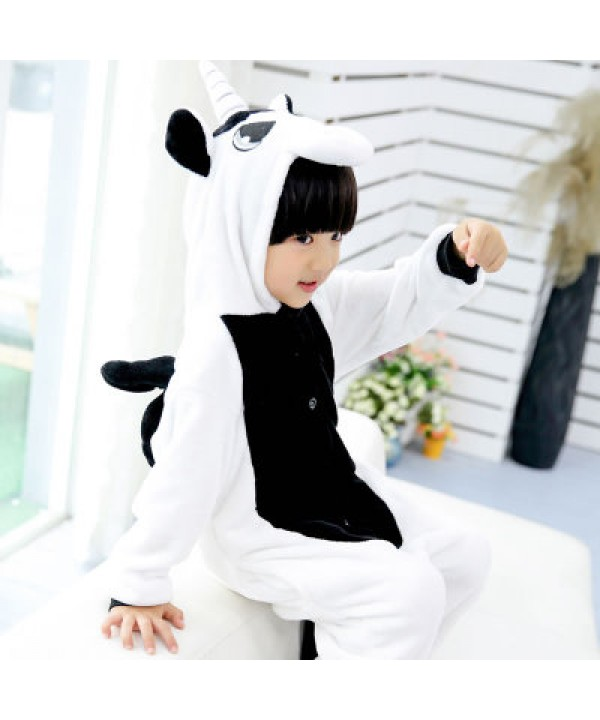 Flannel unicorn Cute cosplay pyjamas Comfy set of pajamas for children