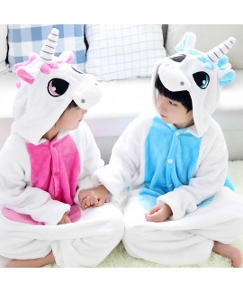 Flannel unicorn Cute cosplay pyjamas Comfy set of ...