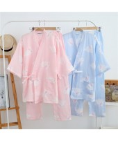 New Cotton Rabbit Women's Kimono Double Gauze Trou...