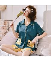Short Sleeve Cardigan Cotton Ladies Pajama Set For...