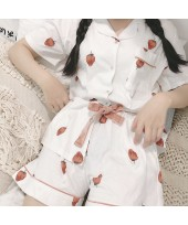 New High Quality Strawberry Short Sleeve Shorts Ca...
