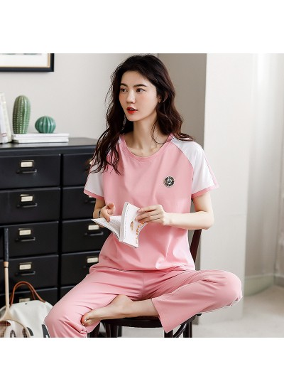 New Cotton Short-sleeved Trousers Plus Size Thin Pajama Suit