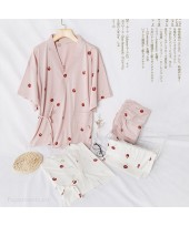 New Kimono Short-sleeved Shorts Pure Cotton Sweat ...