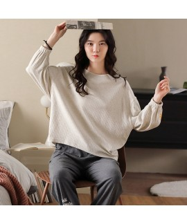 Cotton Long Sleeve Large Size Casual Loose Home We...