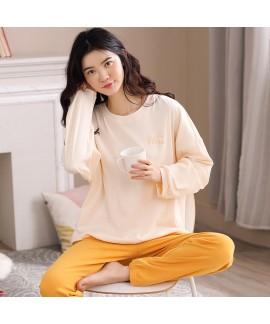 Cotton Long-sleeved Casual Wearable Ladies Homewea...