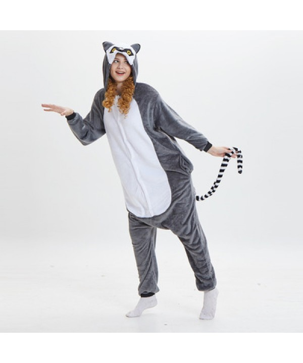 Cheap Cosplay Cartoon conjoined ladies Pyjamas long tailed monkeys cute comfy pajama set for women