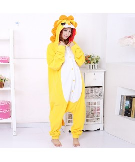 Soft Cosplay Lovely lions pajamas for unisex flann...