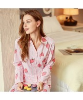 New Long Sleeved pink Ladies pajama sets with stra...