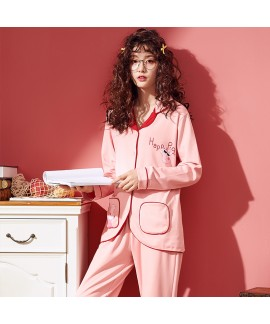 Long sleeved Cardigan lovely pink ladies pajama se...