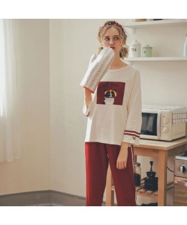 New Comfy casual lovely Cotton pyjamas for spring cute pajama sets with high quality