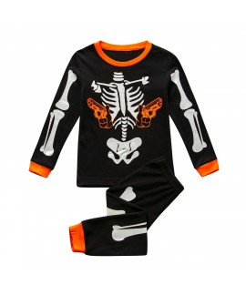 Halloween Boy Luminous Home Costume Long Sleeve Ba...