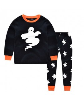 long-sleeved printed Halloween luminous ghost chil...