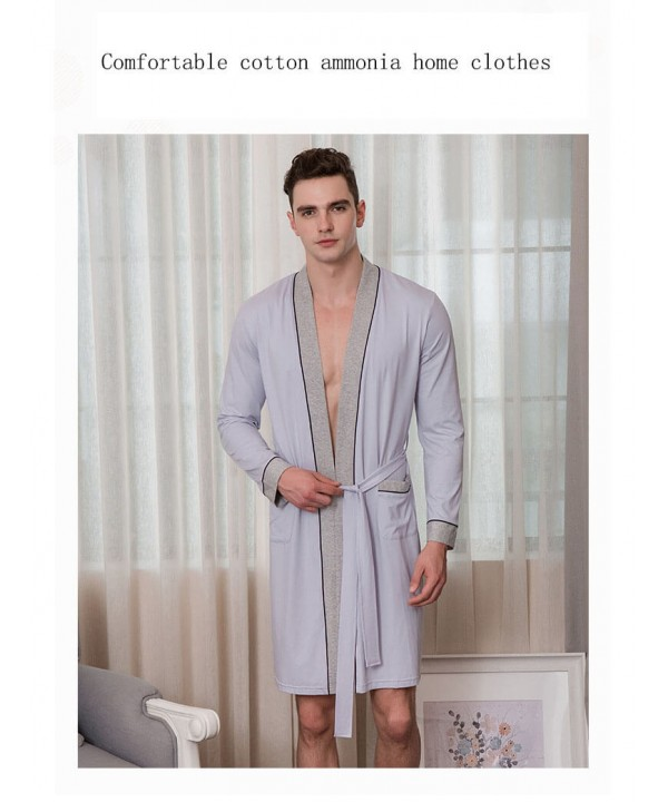 Cardigan slim mens cotton pajama sets comfortable ...