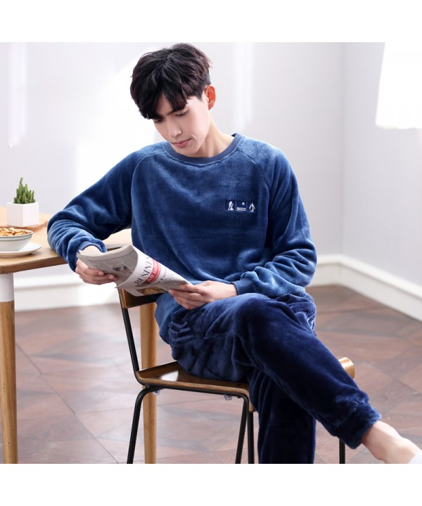 Long-sleeved Men's Winter Sports Thickening Flanne...