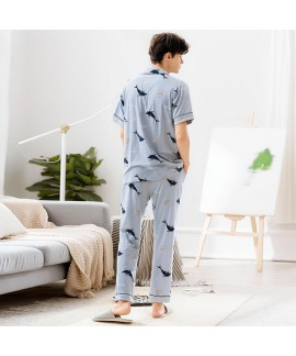 Cartoon printed  comfy Men's cotton Pajamas Fashio...