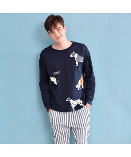 Long sleeves cute mens cotton Pajamas for spring c...