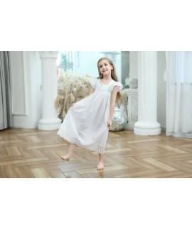 New Summer European Princess Nightdress Cotton Emb...