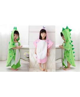 New baby cotton nightgown polygonal dinosaur hoode...