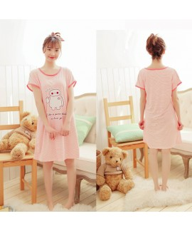 Short sleeve printed ladies pajamas and onesies fo...