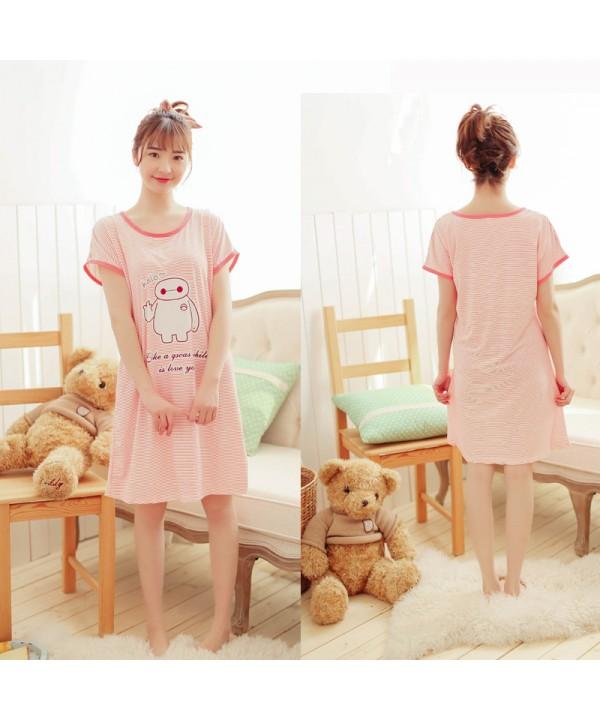 Short sleeve printed ladies pajamas and onesies fo...