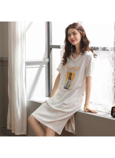 2019 pure cotton ladies sleepwear for summer casual long sleeve pajamas and onesies for women