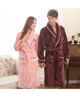 Thickened coral velvet pajamas and robe sets comfy...