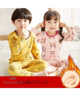 children's comfy pajama sets for winter babies' pl...