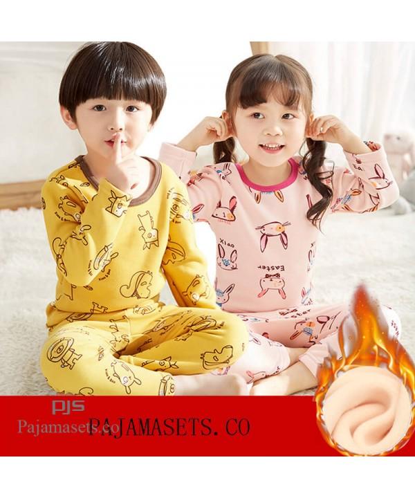 children's comfy pajama sets for winter babies' pl...