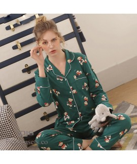 long sleeves cute cotton pajama sets for couple lovely comfy cotton pj sets for spring