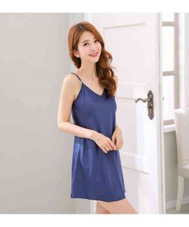 Silk Sensual Home Two-piece Breathable Comfortable Sweet Simple Couple Nightgown