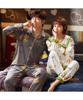 Korean cartoon cute home clothes lapel cardigan sw...