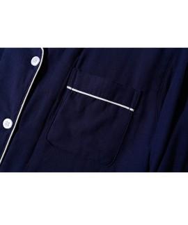 Japanese solid color Mori pure cotton double gauze Couple Pajama