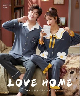Korean couple long-sleeved trousers sweet and cute...